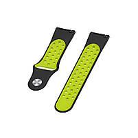 Ремінець для годинника Nike design bracelet Універсальний, 20 мм, Black with green, фото 6