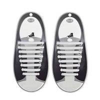 Силиконовые шнурки Triks без завязок Белый