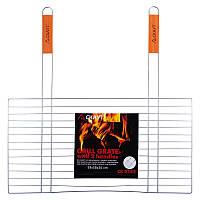 Решітка для барбекю Скаут з двома ручками 58х30 см h2 см метал (0742 Скаут)
