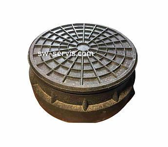 Люк для пластикового колодязя чорний 315 мм