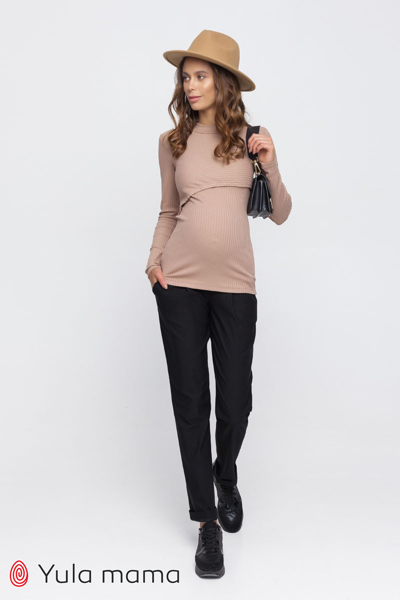 Тёплые брюки-чинос для беременных из супер-стрейчевого материала с начесом FIONA TR-40.121