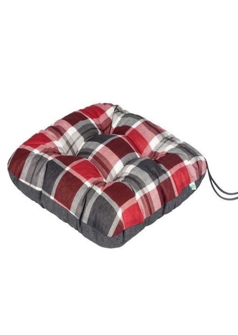 Подушка на стул Florabest 37х37х6см Красный, Серый