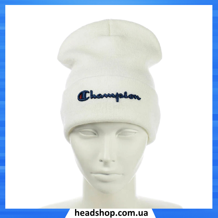 Шапка - Champion / Чемпіон Біла - молодіжна шапка-лопата з відворотом