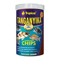 Корм для цихлид и других рыб Tropical Tanganyika Chips, 1000 мл