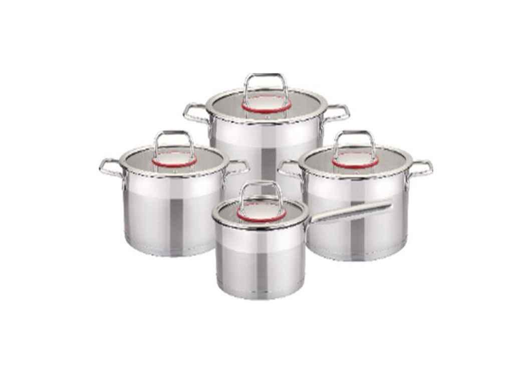 """Набор нержавеющей посуды 8 предметов 26-295-002 """"Krauff"""""""