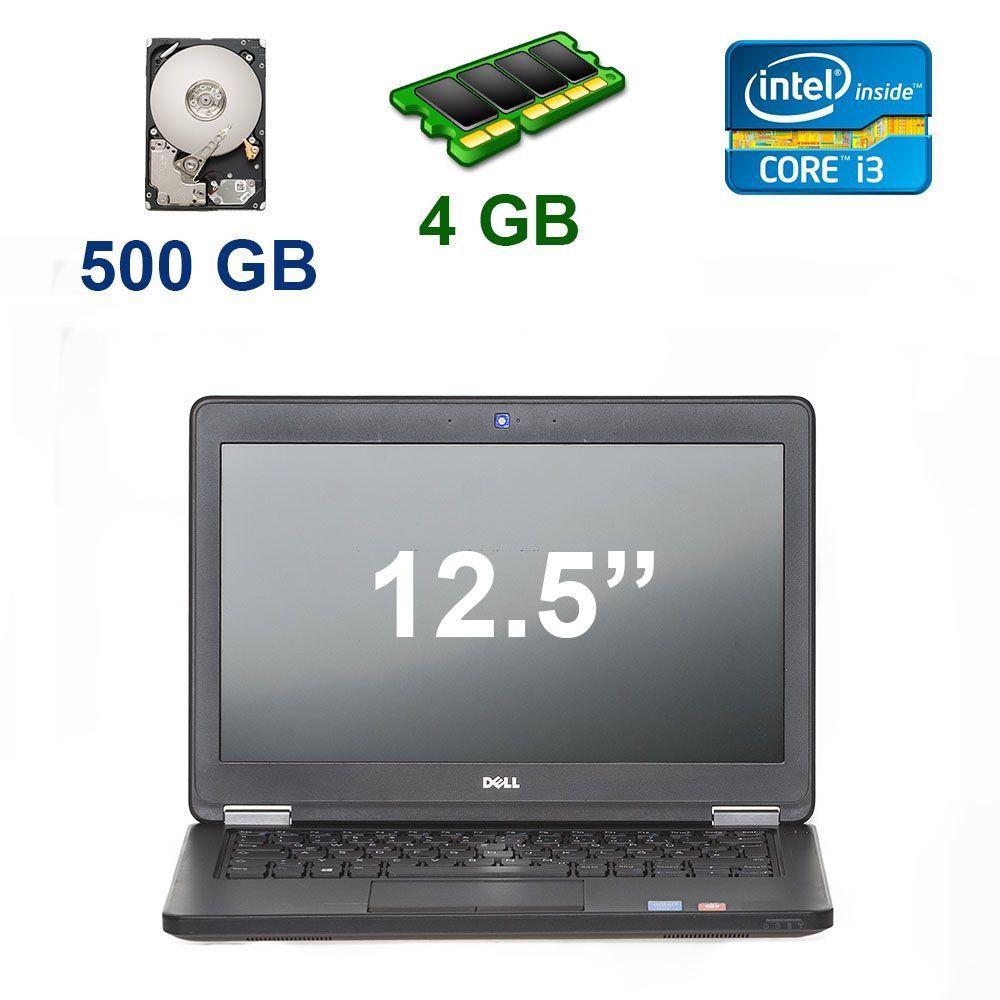 """Dell Latitude E5250 / 12.5"""" (1366x768) / Intel Core i3-5010U (2 (4) ядра по 2.10 GHz) / 4 GB DDR3 / 500 GB HDD / Webcam"""