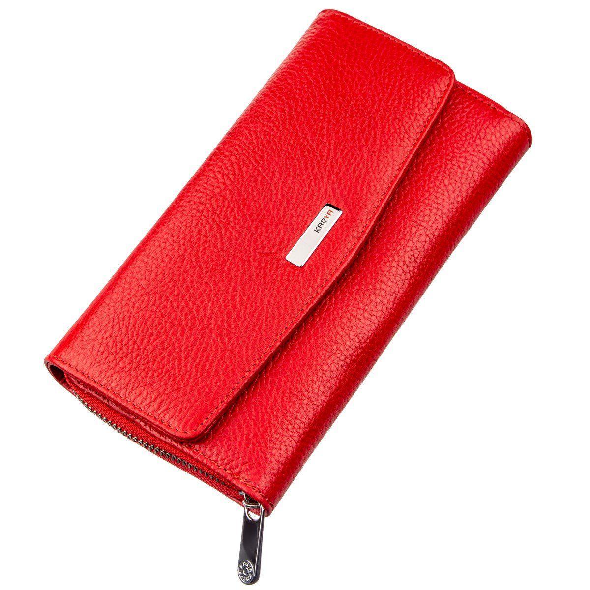 Кошелек женский KARYA 17354 кожаный Красный