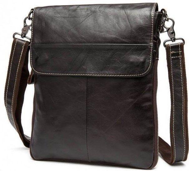 Мессенджер мужской Vintage 14631 кожаный Коричневый