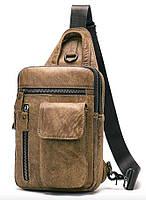 Сумка через плечо мужская Vintage 20096 Светло-коричневая, фото 1