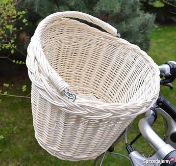 Корзина из лозы на руль велосипеда Eurorover белая