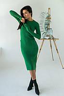 Длинное приталенное платье косичка с карманами ebelieve - зеленый цвет, L/XL (есть размеры), фото 1
