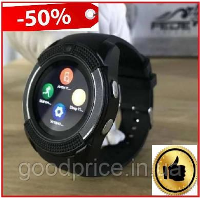 Умные смарт часы Smart Watch V8 черные, электронные наручные часы, спорт часы, фитнес часы