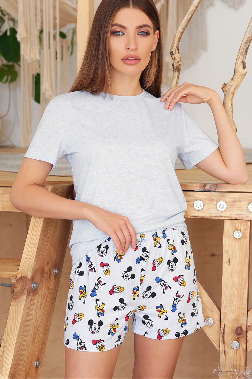 Женская пижама с шортами Джой-2