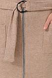Платье трикотажное бежевое Виталина 1, фото 4
