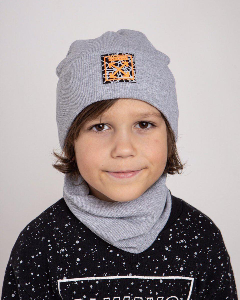 Комплект (шапка хомут) для хлопчика на весну-осінь оптом - Артикул 2682