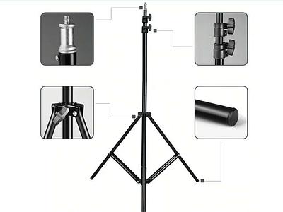 Универсальная складная стойка штатив тренога для кольцевых ламп STAND 1 раскладная подставка-тренога