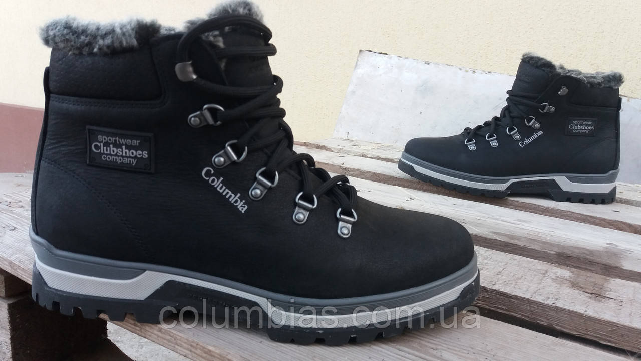 Кожаные меховые зимние ботинки columbias choes