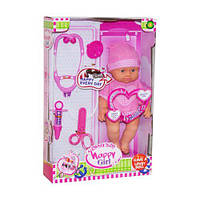 """Говорящий пупс """"Happy Girl"""" с докторским набором (в розовом), куклы,пупс,игрушки для девочек,кукла пупс"""