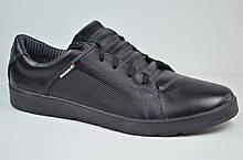 Чоловічі шкіряні туфлі чорні Maxus Ензо