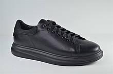 Мужские кожаные кеды черные eD-Ge МС