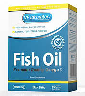 Жирные кислоты VPLab Fish Oil, 60 капсул