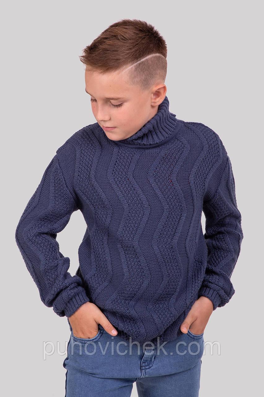 Теплий светр під горло для хлопчика розмір 128-152