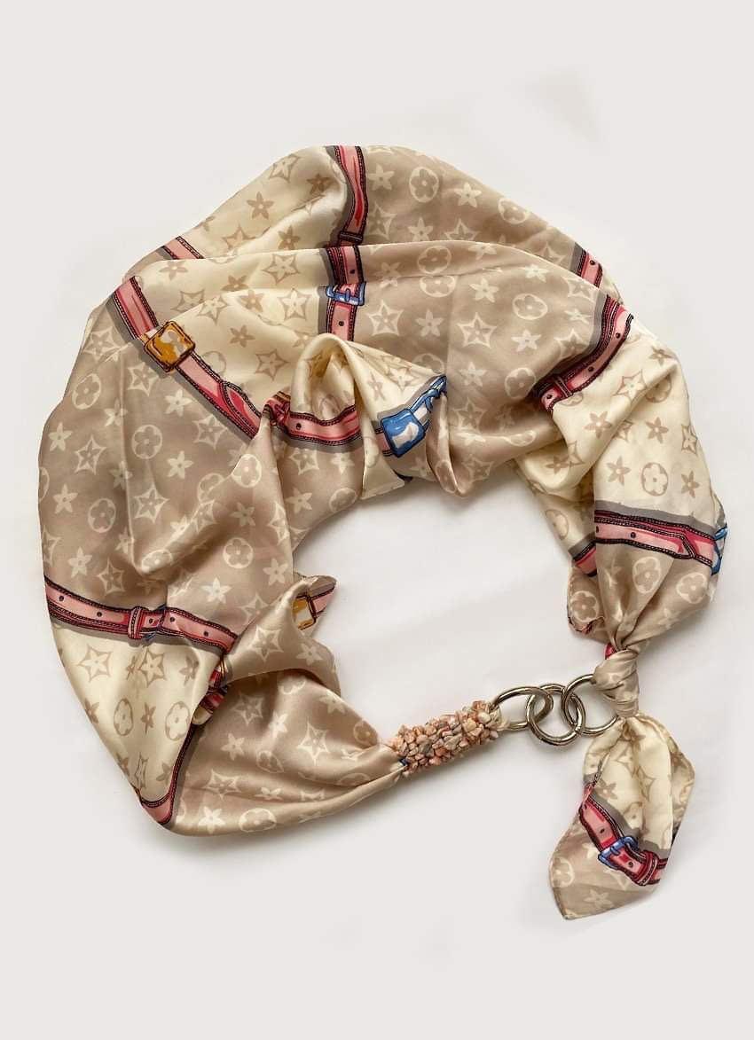 """Шовковий хустку my scarf """"Весняний Мілан"""" шийну хустку, подарунок жінці"""