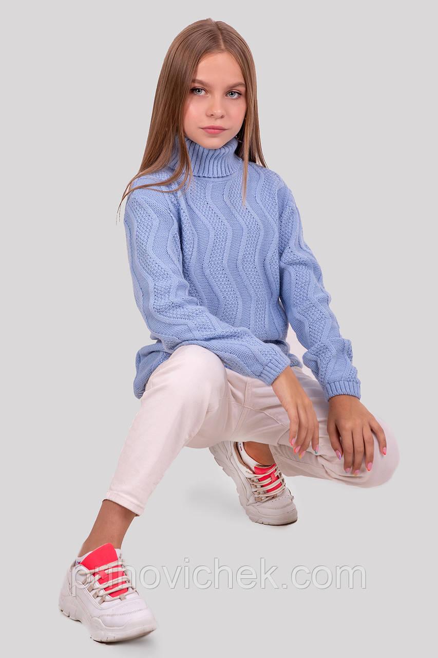 Теплый свитер для девочки  размеры 128-152