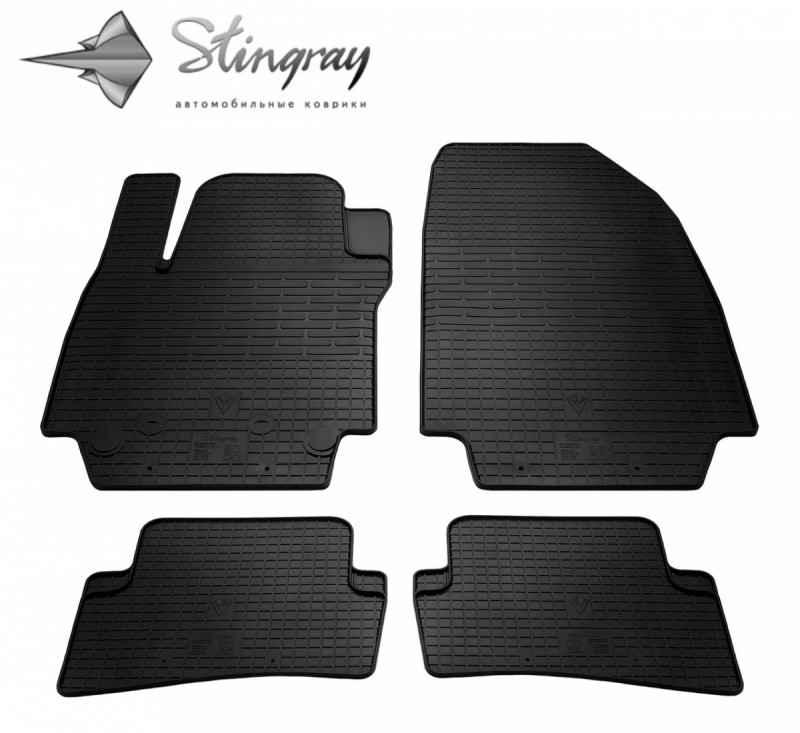 Гумові килимки в автомобіль Renault Clio III 2005- (Stingray)