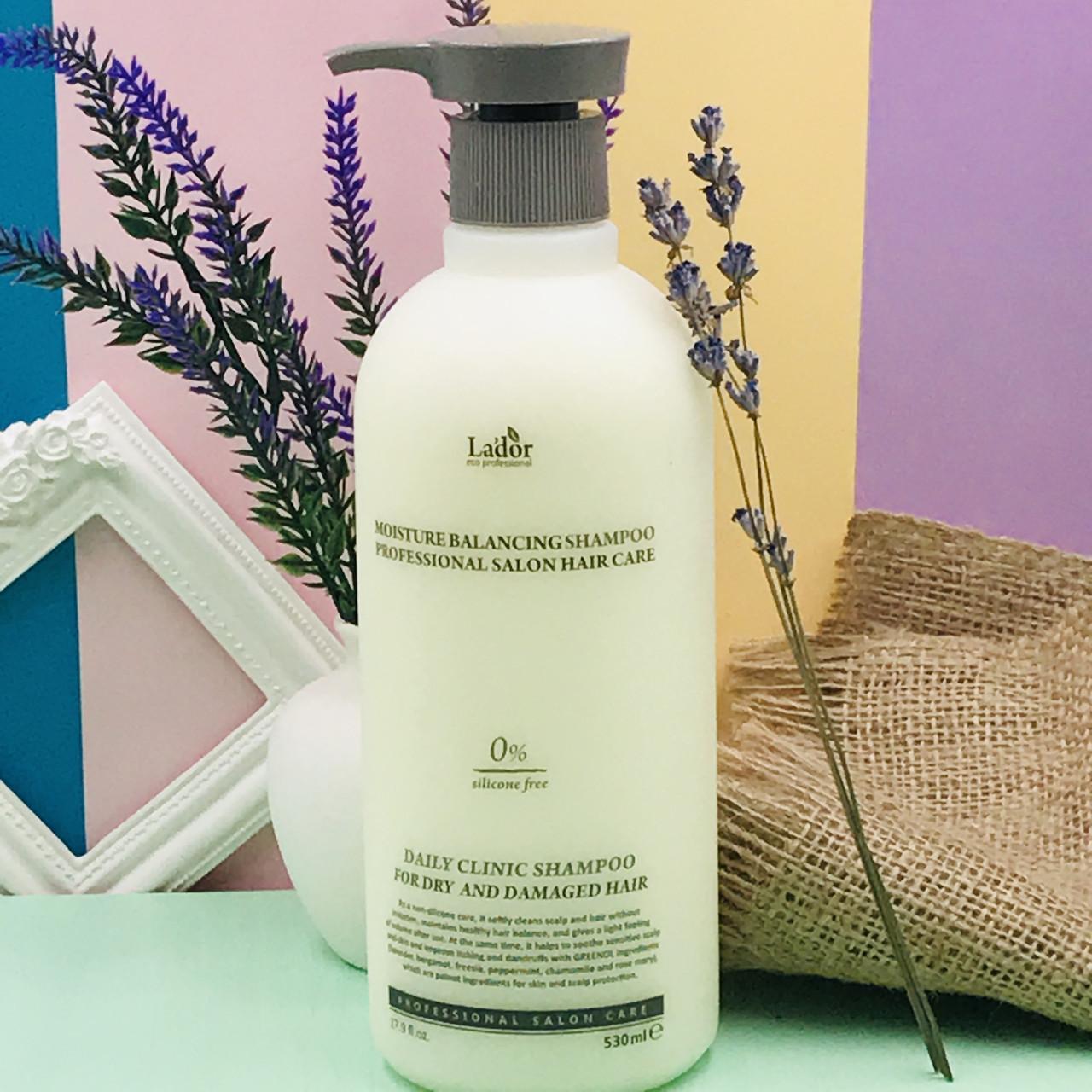 Увлажняющий шампунь Lador для сухих и поврежденных волос Moisture Balancing Shampoo 530ml