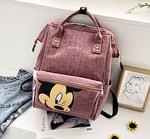 Каркасный трансформер сумка-рюкзак с принтом Микки Маус, фото 3
