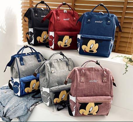 Каркасный трансформер сумка-рюкзак с принтом Микки Маус, фото 2