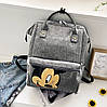Каркасный трансформер сумка-рюкзак с принтом Микки Маус, фото 6