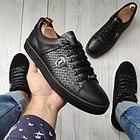 Billionaire (B-6) Мужские кожаные кеды (туфли)мужская обувь полностью из натуральной кожи philipp plein