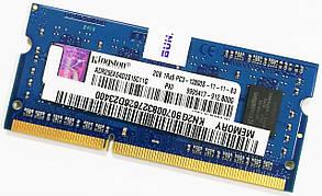 Оперативная память для ноутбука Kingston SODIMM DDR3 2Gb 1600MHz 12800s CL11 (ACR256X64D3S16C11G) Б/У