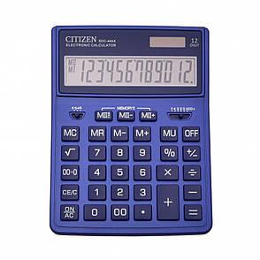 Калькулятор Citizen SDC444XRNVE бухгалтерский 12р., синий, фото 2