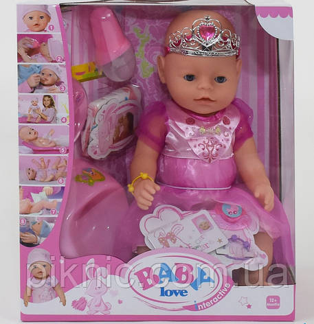 Пупс аналог Baby born (Беби Борн) с аксессуарами, 8 функций. Пупсик, кукла, игрушка, подарок для девочки, фото 2