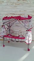 Оригинальноя кукольная кроватка FL 986 с балдахином