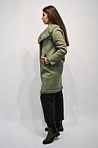 Дубленка Rr 8011 цвета мята с кожаной отделкой, фото 2