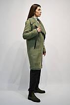 Дубленка Rr 8011 цвета мята с кожаной отделкой, фото 3