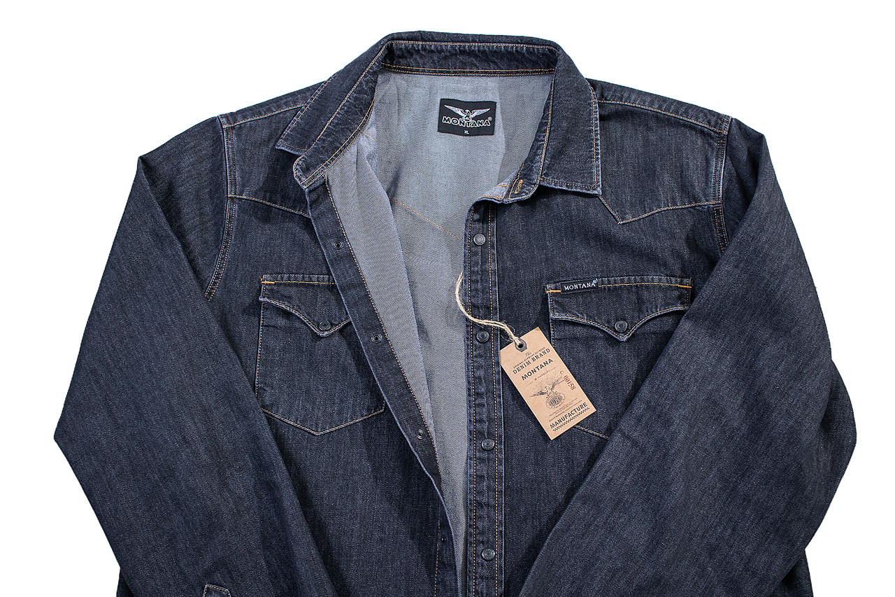 Рубашка джинсовая MONTANA BLACK 02