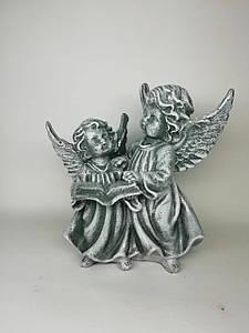 Декор для интерьера Ангелочки с книгой серого цвета 20 см