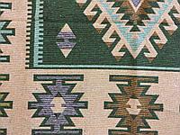 """Двостороння доріжка килим покривало котон Ромб зелений"""" 245*155 см"""