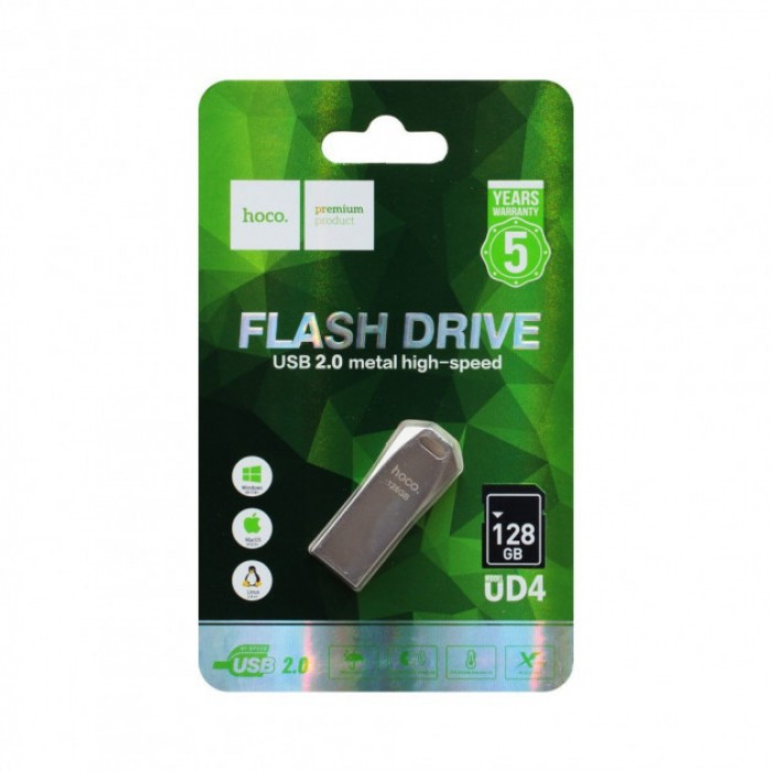 Флешка HOCO USB Hoco UD4 128GB чорна