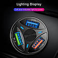 Зарядное устройство 3хUSB с подсветкой / Быстрая зарядка QC 3.0 / Адаптер питания в авто (12-32В, 7А), фото 4