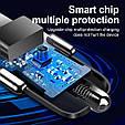 Зарядное устройство 3хUSB с подсветкой / Быстрая зарядка QC 3.0 / Адаптер питания в авто (12-32В, 7А), фото 5