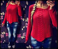 Женский вязаный свитер