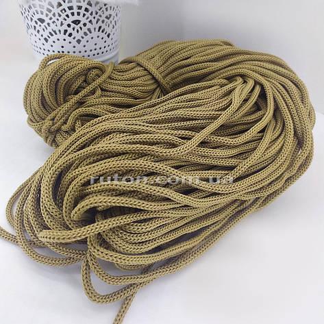 Шнур полиэфирный без сердечника 5 мм 85 м какао, фото 2