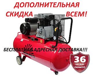 Компрессор Vitals  GK 100j 652-10-a,  100 л, 2,2 кВт, 10 бар  ремень, Латвия