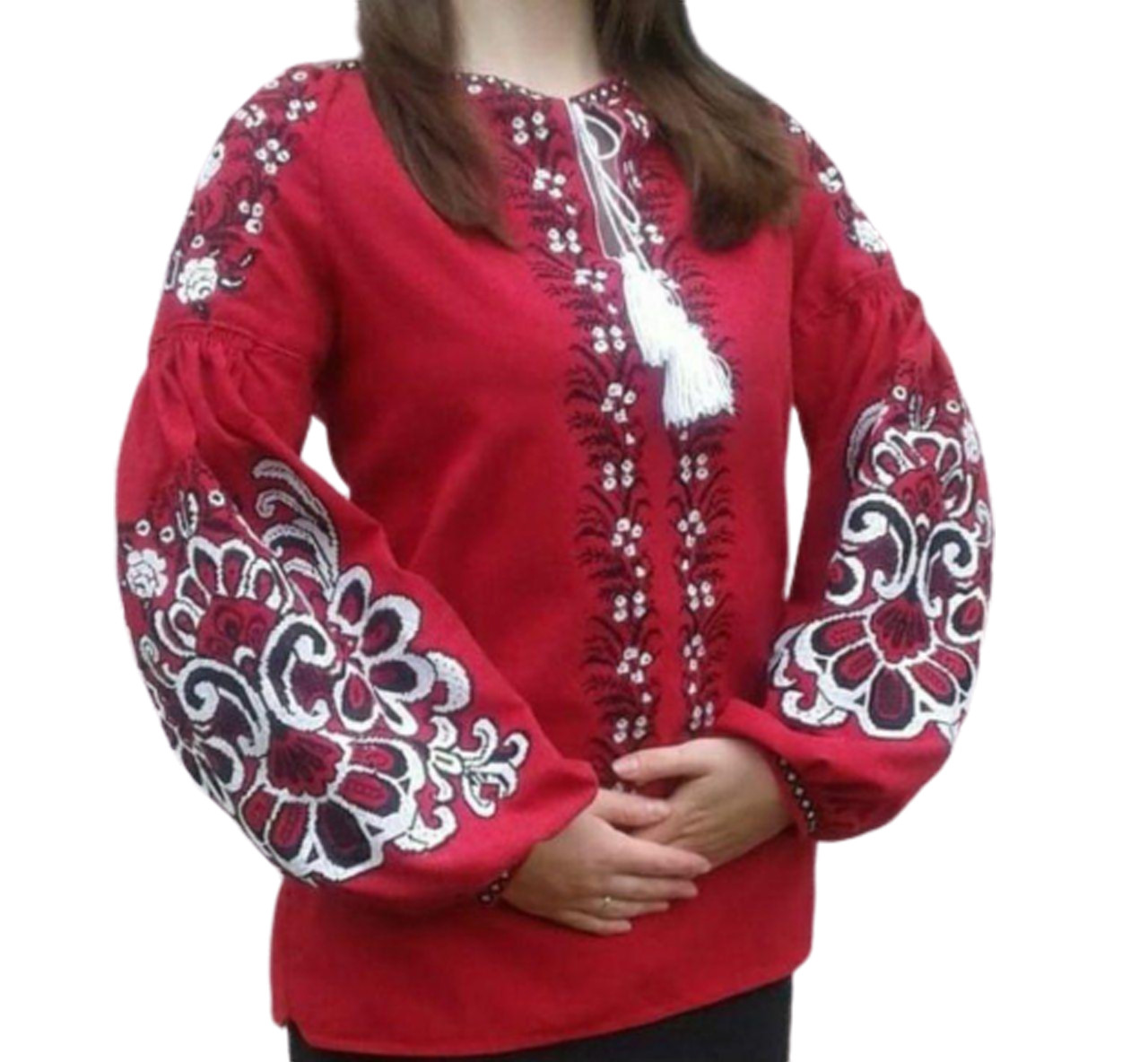 """Женская вышитая рубашка """"Пейтон"""" BU-0004"""